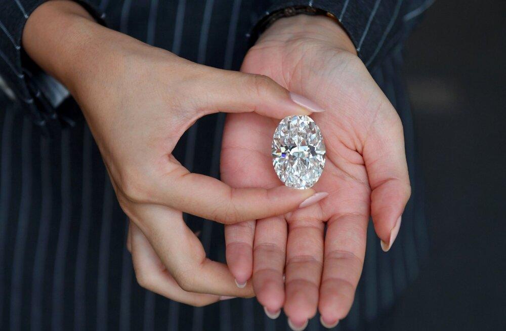 13 миллионов евро! Белый бриллиант побил рекорд на онлайн-аукционе