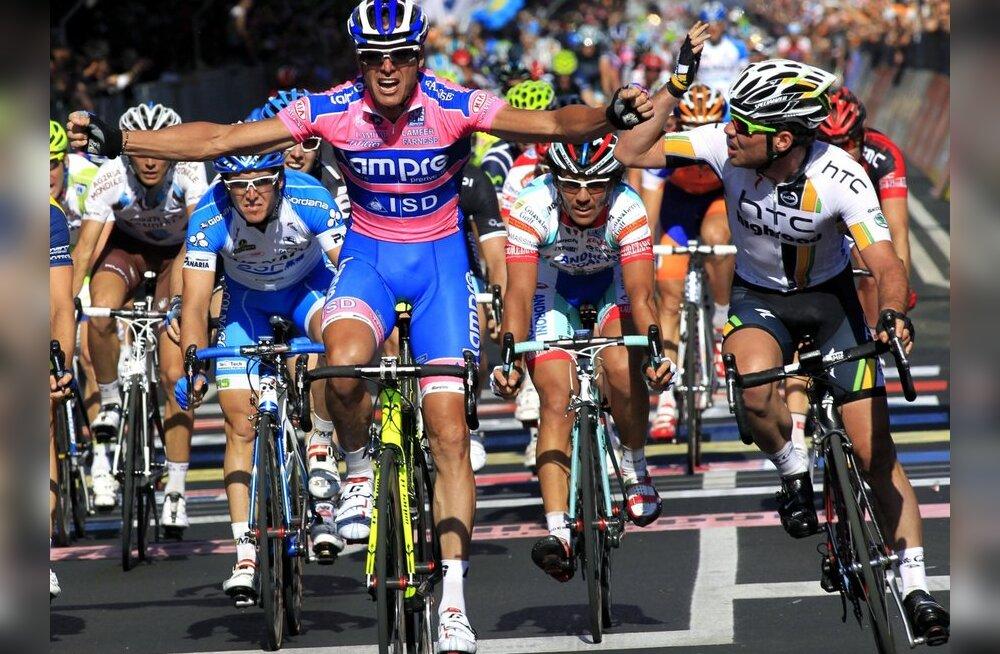 Mark Cavendish pole rahul, kuidas Alessandro Petachhi finišeeris, jalgratas