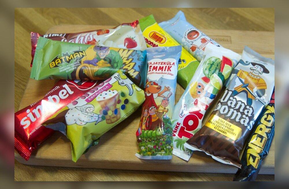 DELFI SUVEJÄÄTISTE TEST: Laimimaitseline mahlapulk ja piparmünditäidisega Nahkmehe jäts!