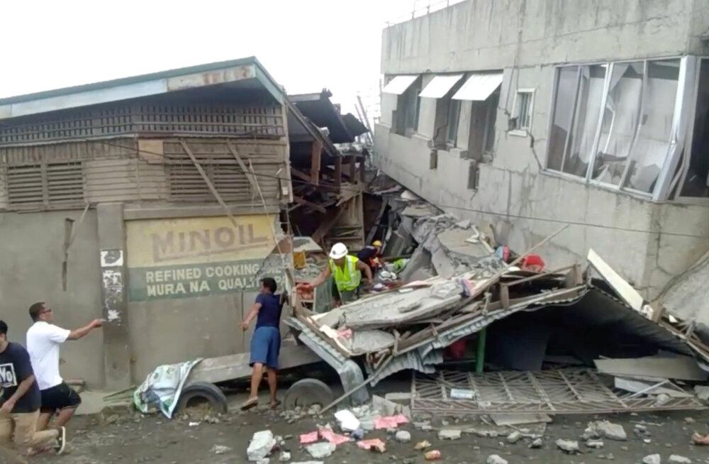 Filipiine raputas tugev maavärin magnituudiga 6,8