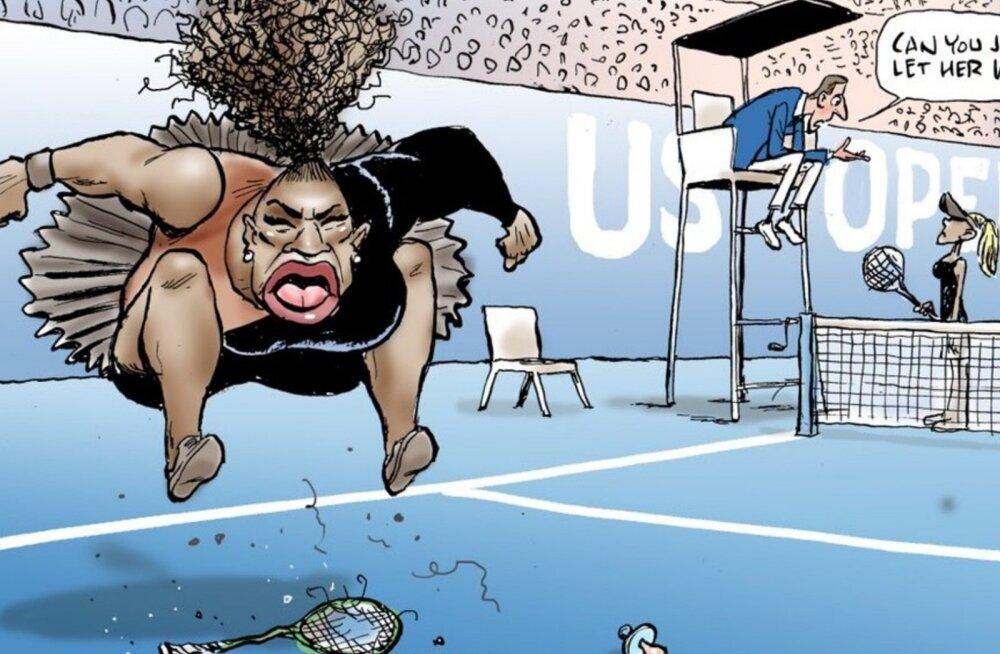 Serena Williamsi karikatuur
