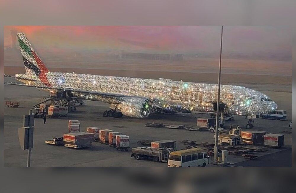 Авиакомпания из Дубая показала алмазный Boeing 777