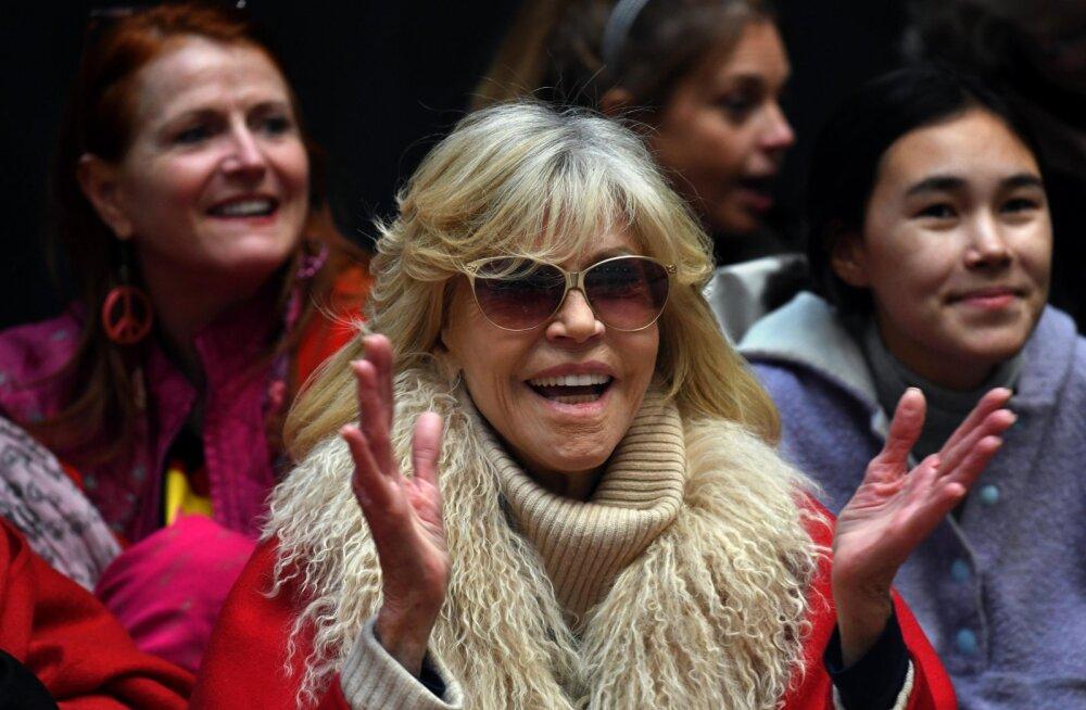 VIDEO   Peagi 82-aastane Jane Fonda arreteeriti juba viiendat korda meeleavalduses osalemise tõttu