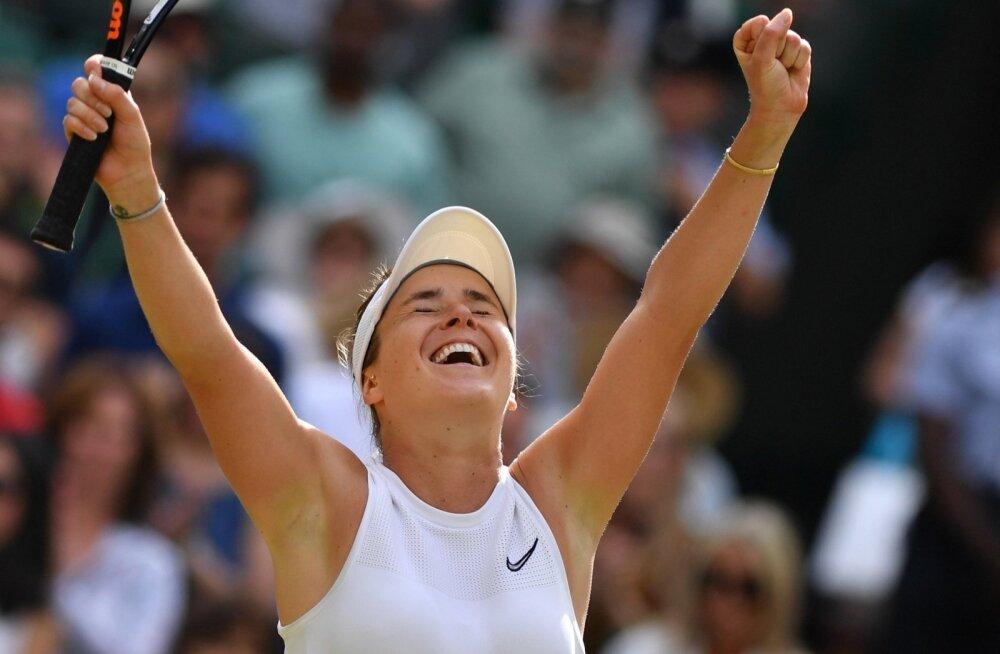 Elina Svitolina jõudis suure slämmi turniiril esmakordselt poolfinaali.