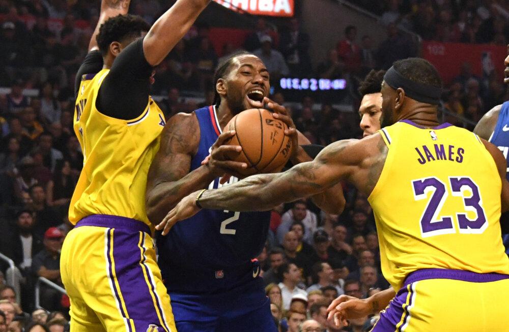 VIDEO | NBA hooaja avapauk: Raptors võitis lisaajal, Clippers alistas Los Angelese siseasjas Lakersi