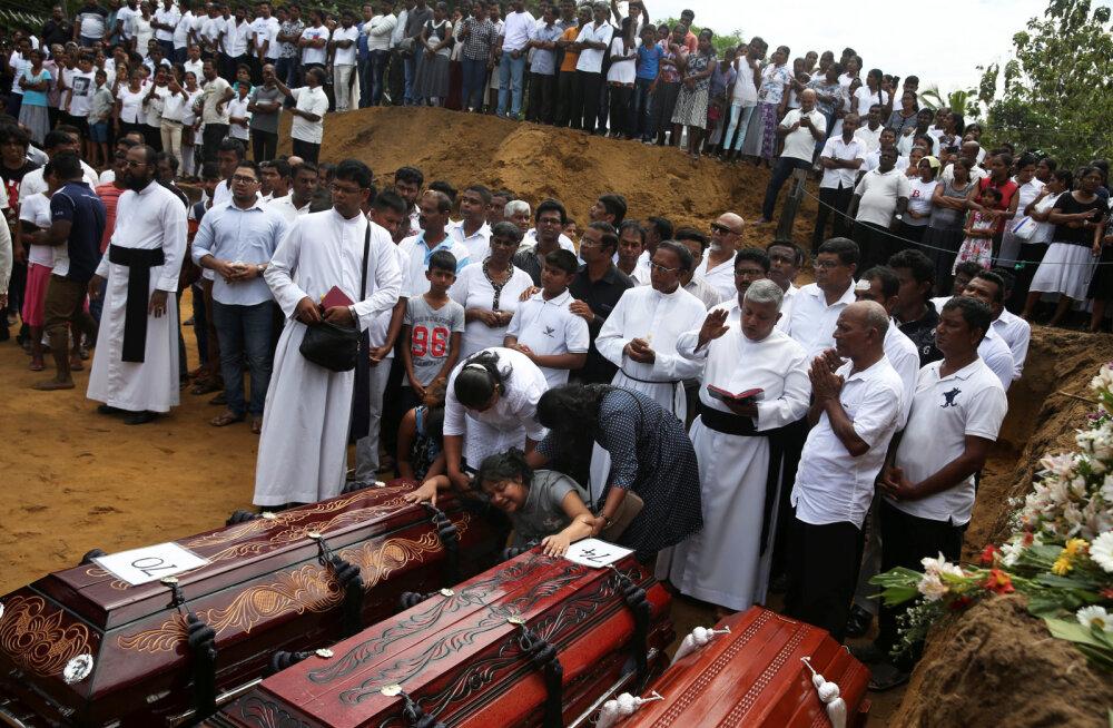 Sri Lanka rünnakute ohvrite arv on tõusnud 310-ni
