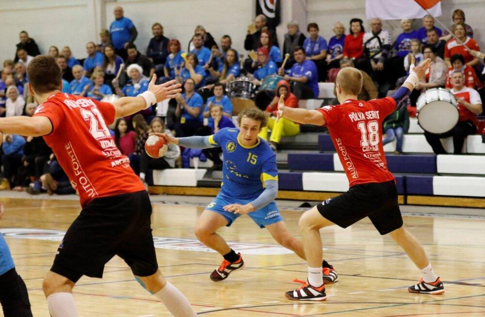 Käsipalli karikavõistluste veerandfinaalis loositi vastamisi Serviti ja Viljandi
