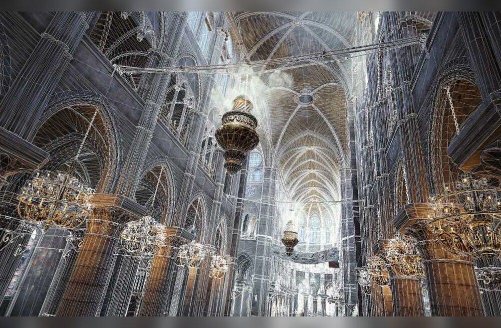 Jumalaema kiriku taastamisel tõttavad appi arvutimängutootja ja hiljutised laserskaneeringud