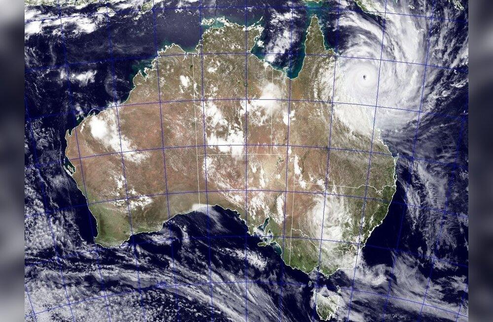Austraalia sai ülivõimsalt tormilt esimese löögi