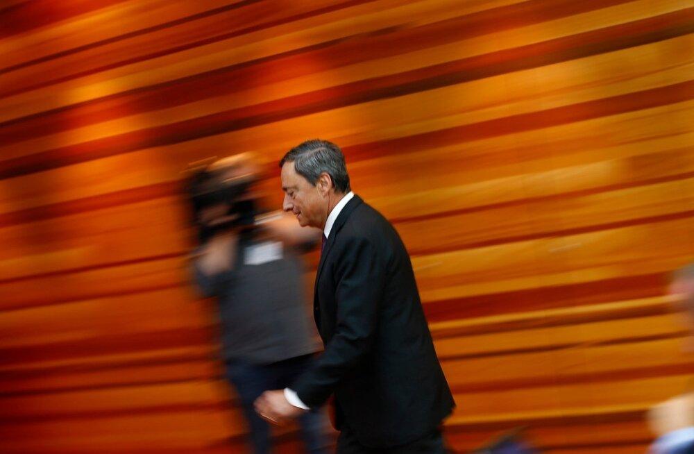 Euroopa Keskpanga juht Mario Draghi tõmbas intressi tõstmise ootuseid maha.