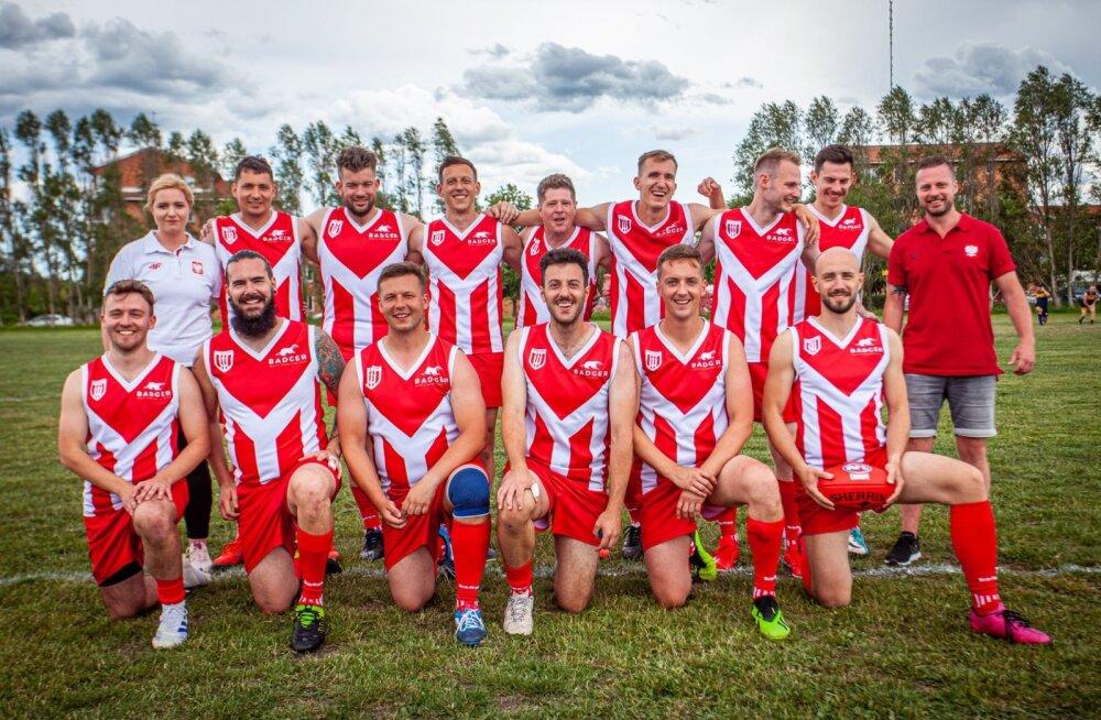 Польская команда по австралийскому футболу