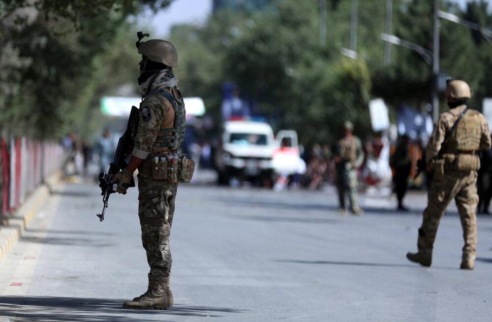 Afganistani valimisüritusel presidendi osavõtul toimus plahvatus, milles hukkus vähemalt 24 inimest