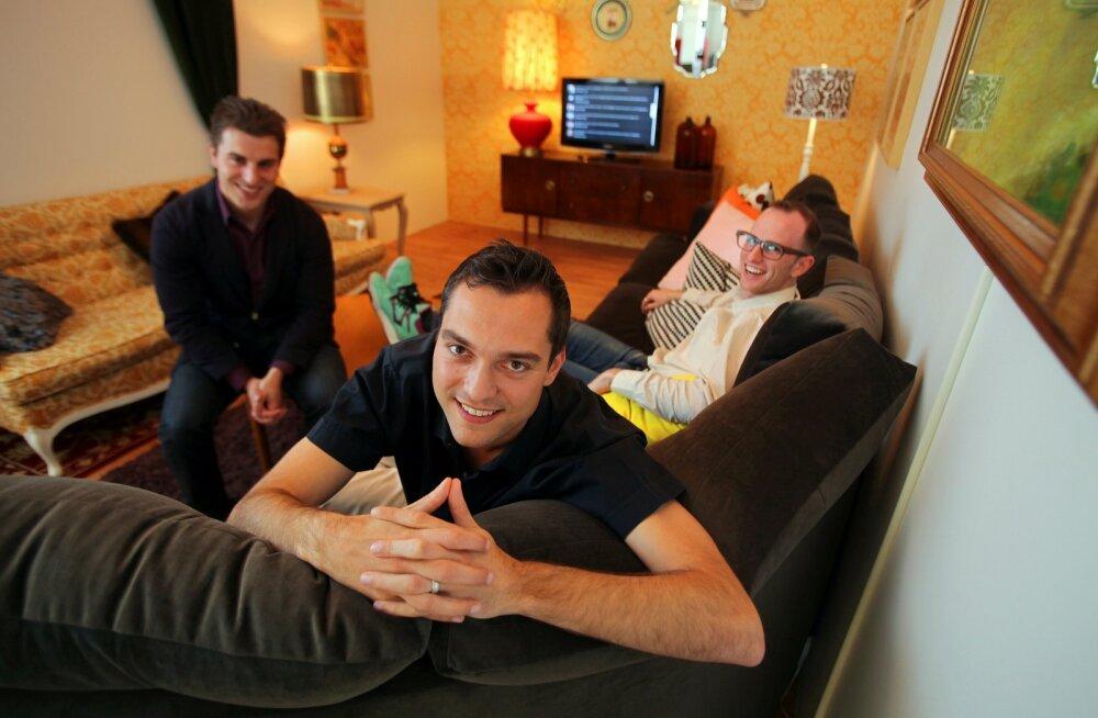 Airbnb asutajad (vasakult): Brian Chesky, Nathan Blecharczyk ja Joe Gebbia