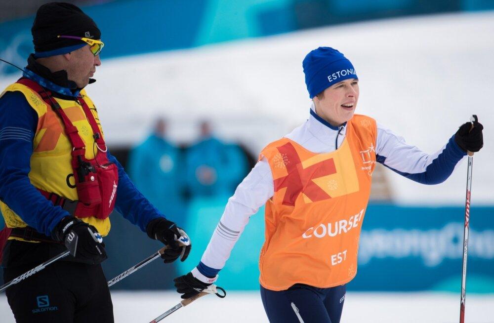 President Kersti Kaljulaidil avanes võimalus suusatada Pyeongchangi olümpia suusaradadel.