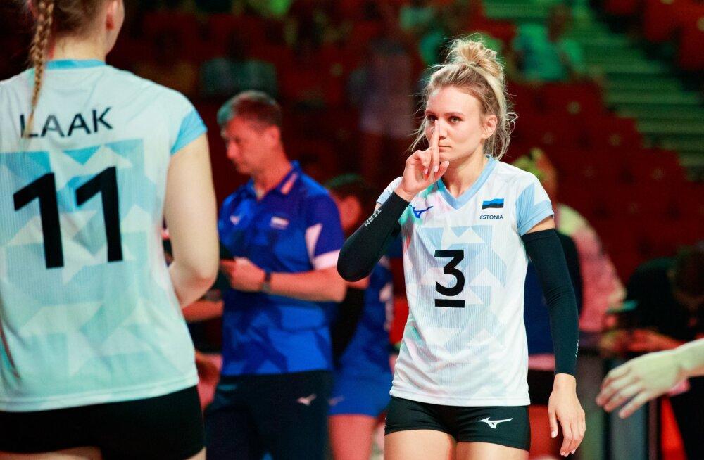 Võrkpalli EM finaalturniir eesti vs Ungari