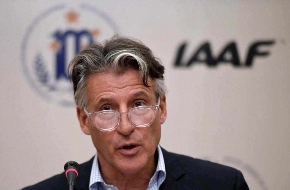 IAAFi president Sebastian Coe