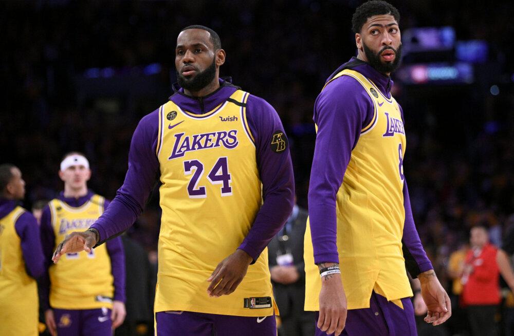 Viskekontserdi korraldanud LeBron James aitas Lakersi järjekordse võiduni