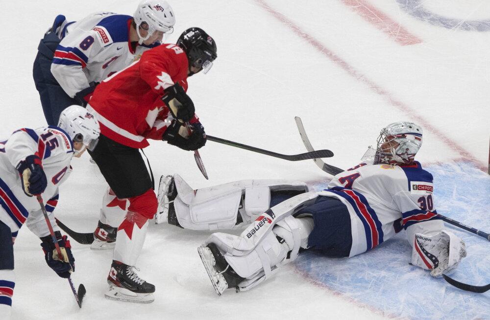Jäähoki juunioride MM, USA vs Kanada