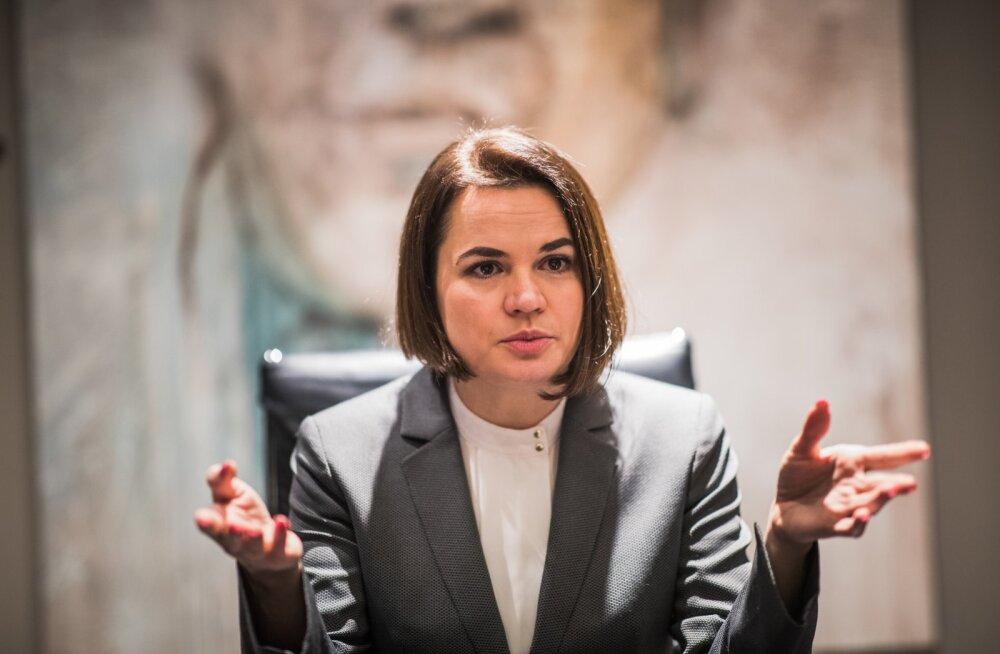 INTERVJUU | Svjatlana Tsihhanovskaja: pitsitada tuleb Lukašenka rahakotti. Valgevene režiim on nõrk ja kukub kindlasti