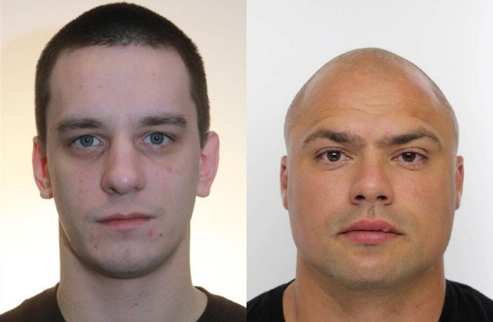 Politsei palub abi kriminaalmenetlusest tahtlikult kõrvale hoidvate meeste asukoha tuvastamisel