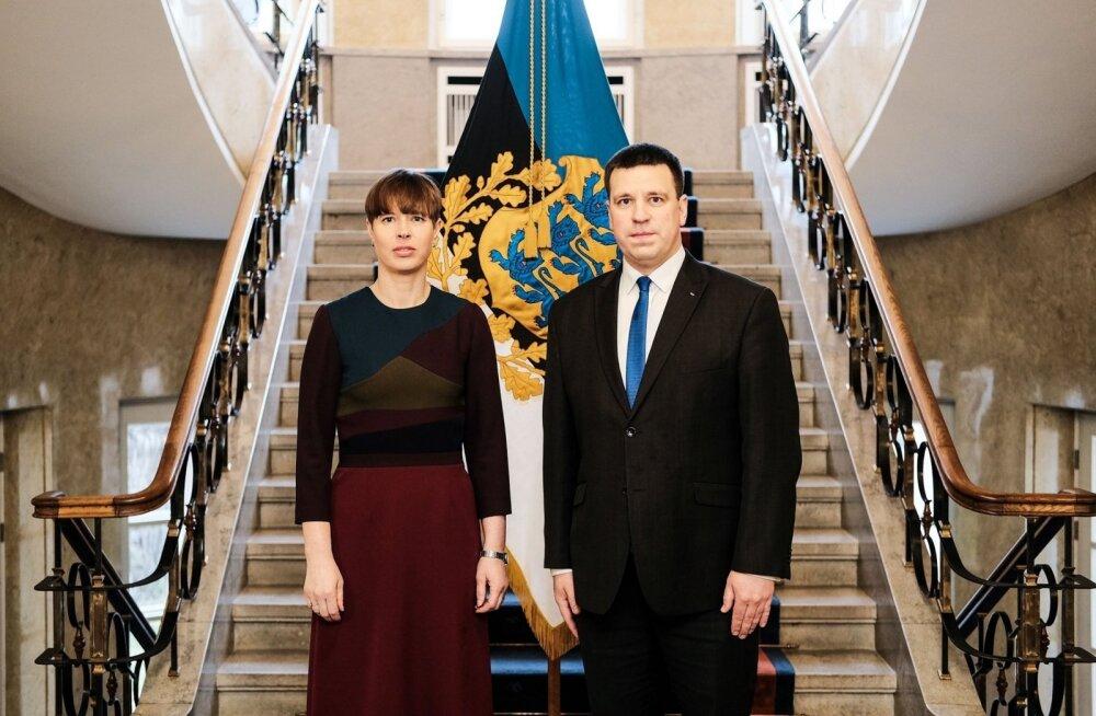 ФОТО | Президент Кальюлайд утром встретилась с Ратасом и Кийком. Говорили о коронавирусе