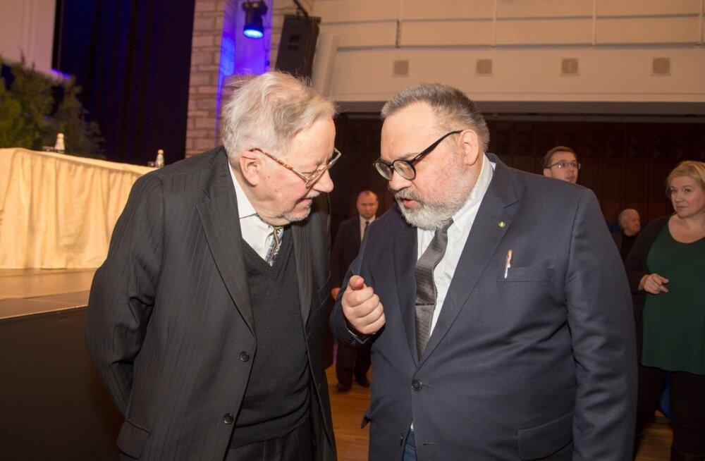 Vytautas Landsbergis ja Maalehe ajakirjanik Argo Ideon.