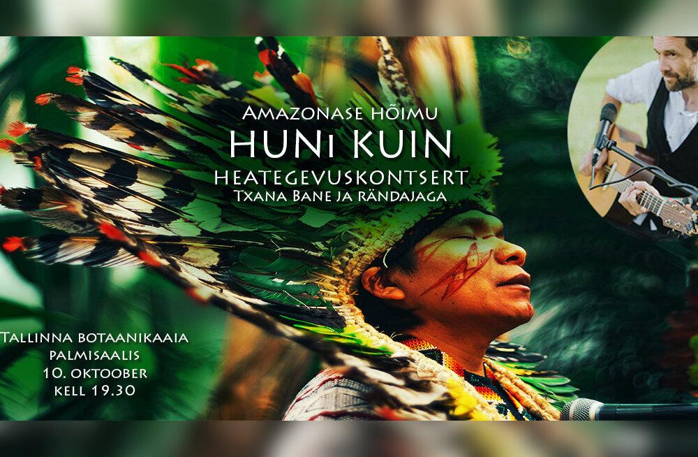 10. oktoobril toimub Amazonase hõimu Huni Kuin heategevuskontsert Tallinna Botaanikaaias