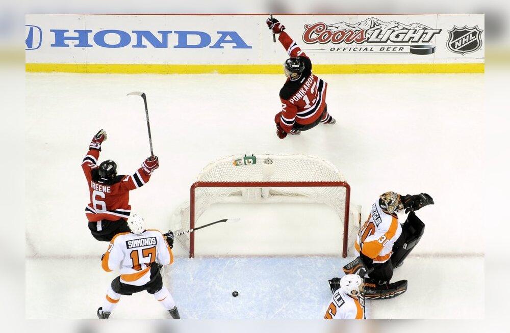 Kohtumine New Jersey Devils - Philadelphia Flyers, NHL, jäähoki