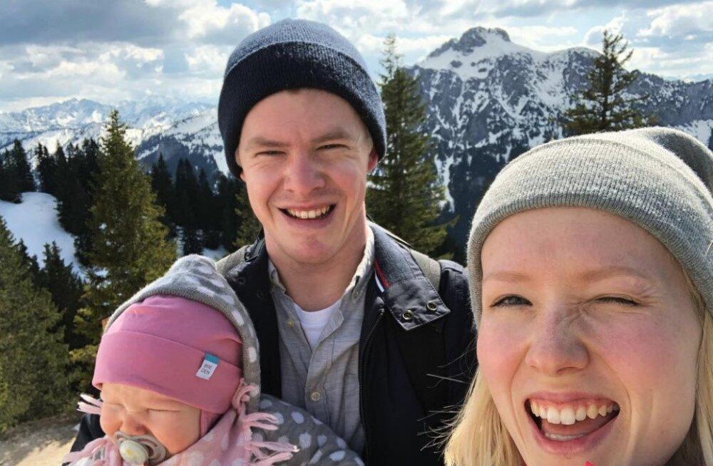 VAHVA KLÕPS | Saara Kadak ja Märt Pius puhkavad tütrega mägedes