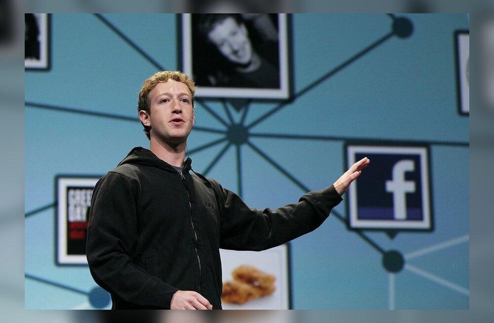 Facebooki looja Mark Zuckerberg jäi pika ninaga