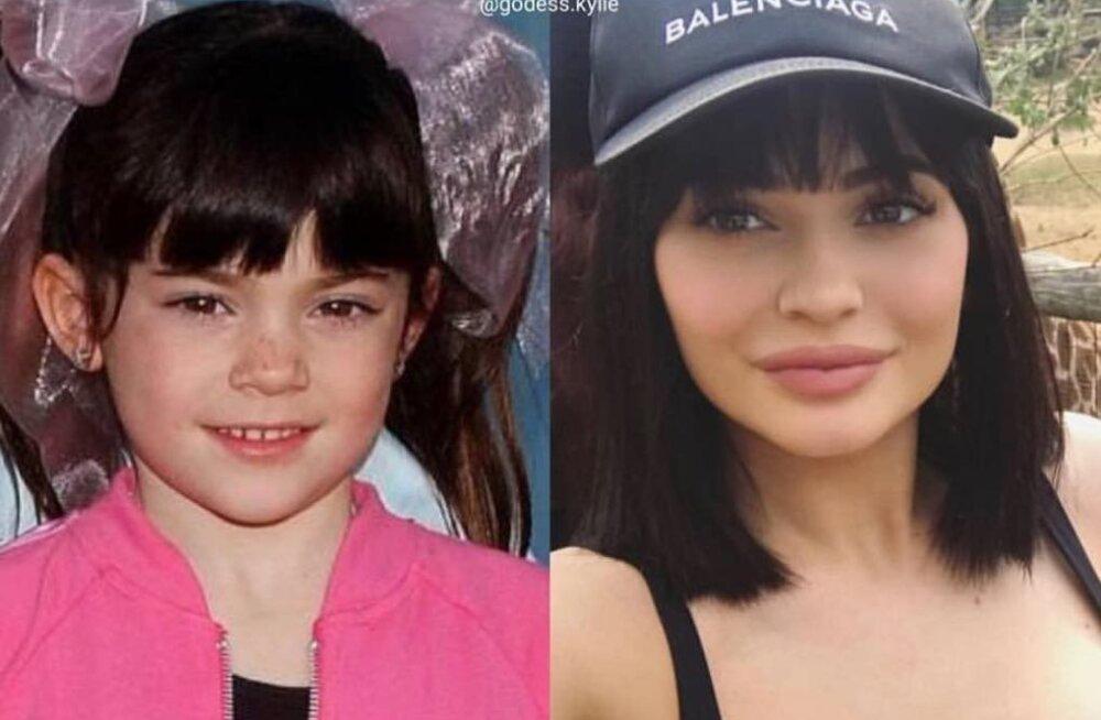 ENNE JA PÄRAST | Uskumatu transformatsioon! Kylie Jenner jagas 21. sünnipäeva puhul isiklikke fotosid lapsepõlvest