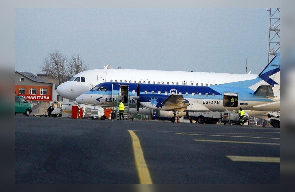На пути в Вильнюс самолет Estonian Air совершил экстренную посадку