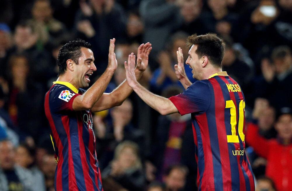 Xavi ja Messi 2014. aastal