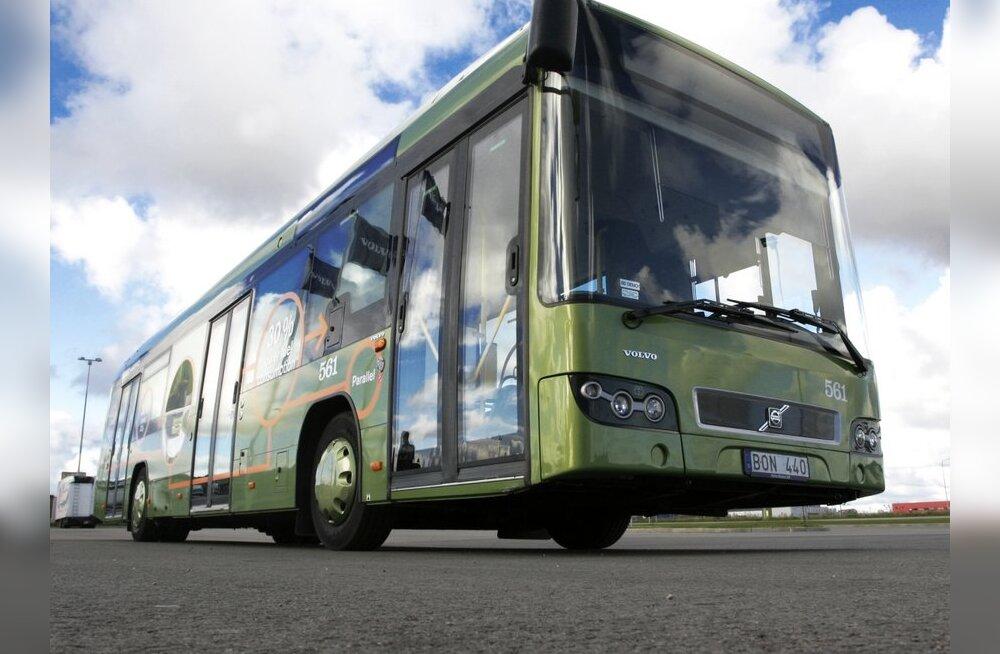 Biokütusebusside kõrval on mujal maailmas laialt kasutusel ka hübriidbussid nagu see