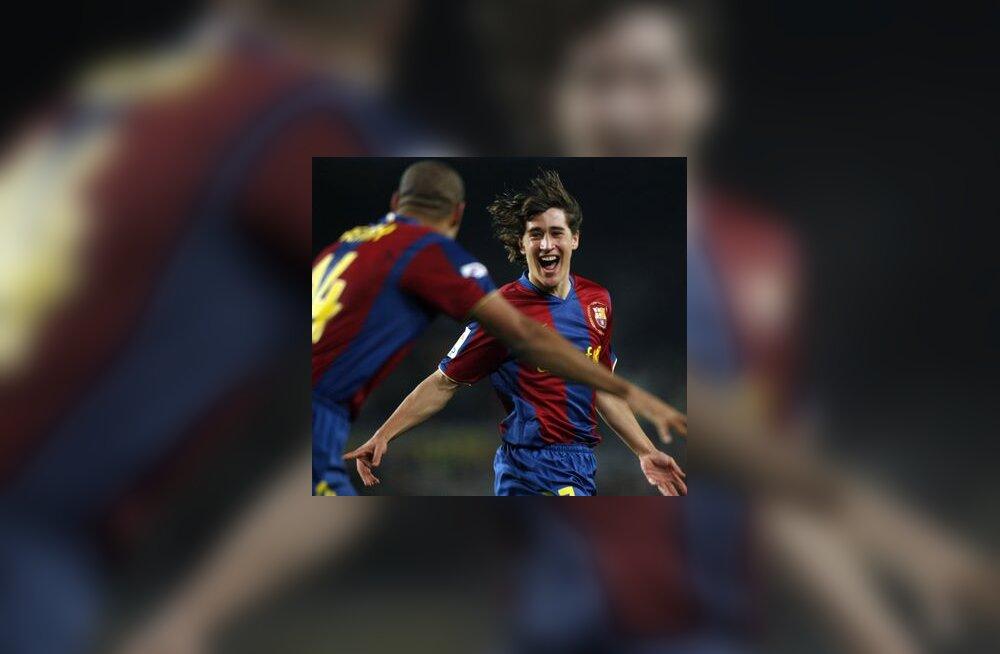 17-aastane Bojan Krkic (paremal) ja Thierry Henry