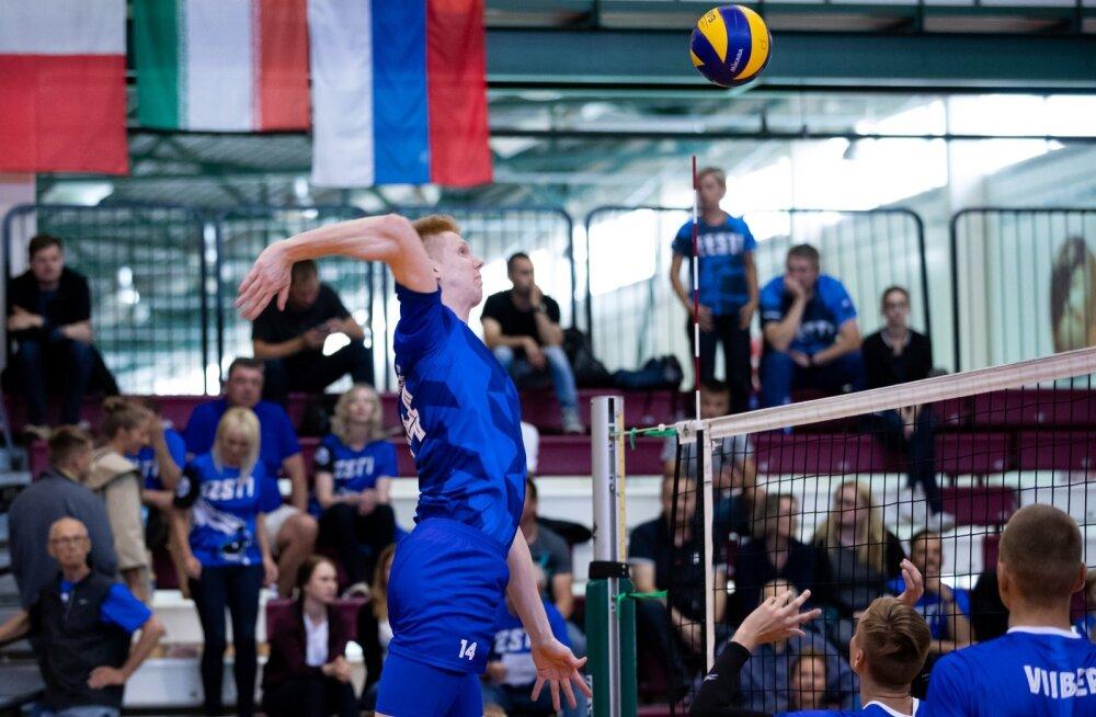 Võrkpalli B-koondised. Eesti vs Iraan Audentese spordihallis