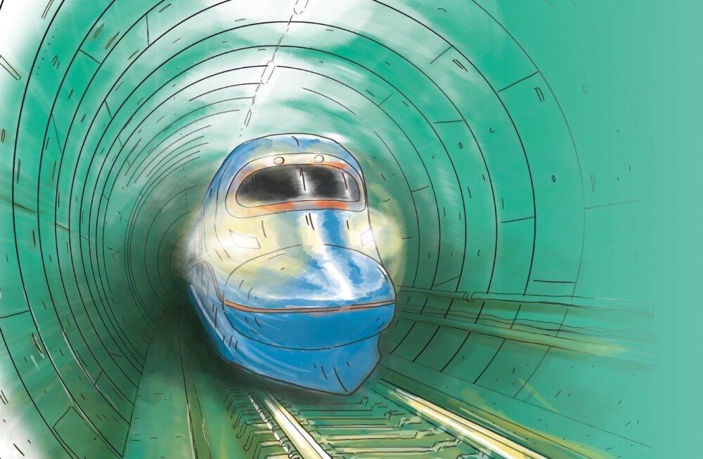 Tulevikus kihutab rong Tallinna-Helsingi tunnelis kahe pealinna vahel poole tunniga.