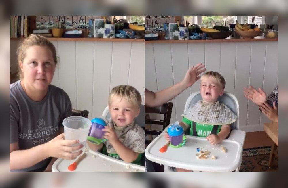 VIDEO   Humorist Amy Schumer üllatus poja ühe esimese sõna peale nii, et ajas lapse lausa nutma