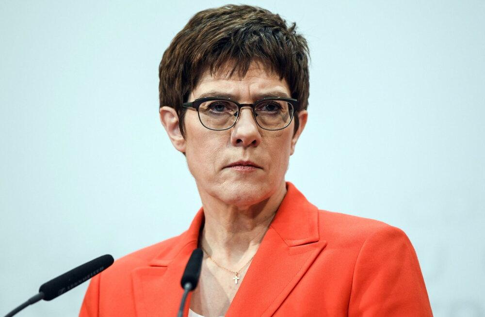 Merkeli valitud järeltulija Kramp-Karrenbauer teatas, et ei kandideeri liidukantsleriks