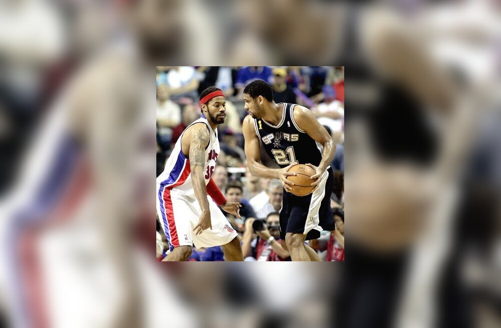 Rasheed Wallace (Pistons) - Tim Duncan (Spurs)