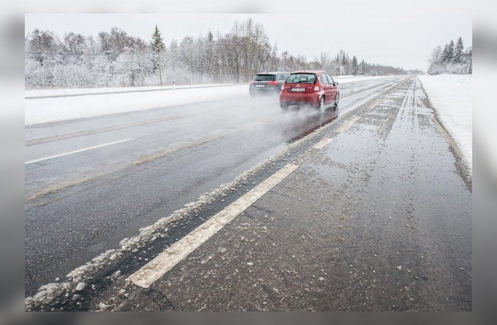 Maanteeamet hoiatab: öised miinuskraadid muudavad teed libedaks