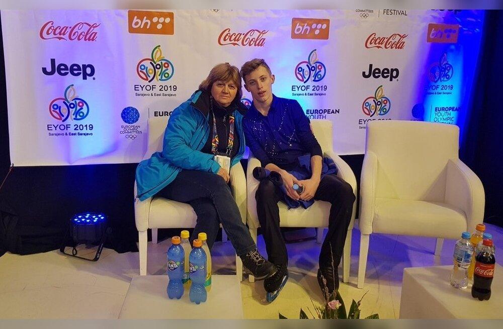 Mihhail Selevko ja treener Irina Kononova