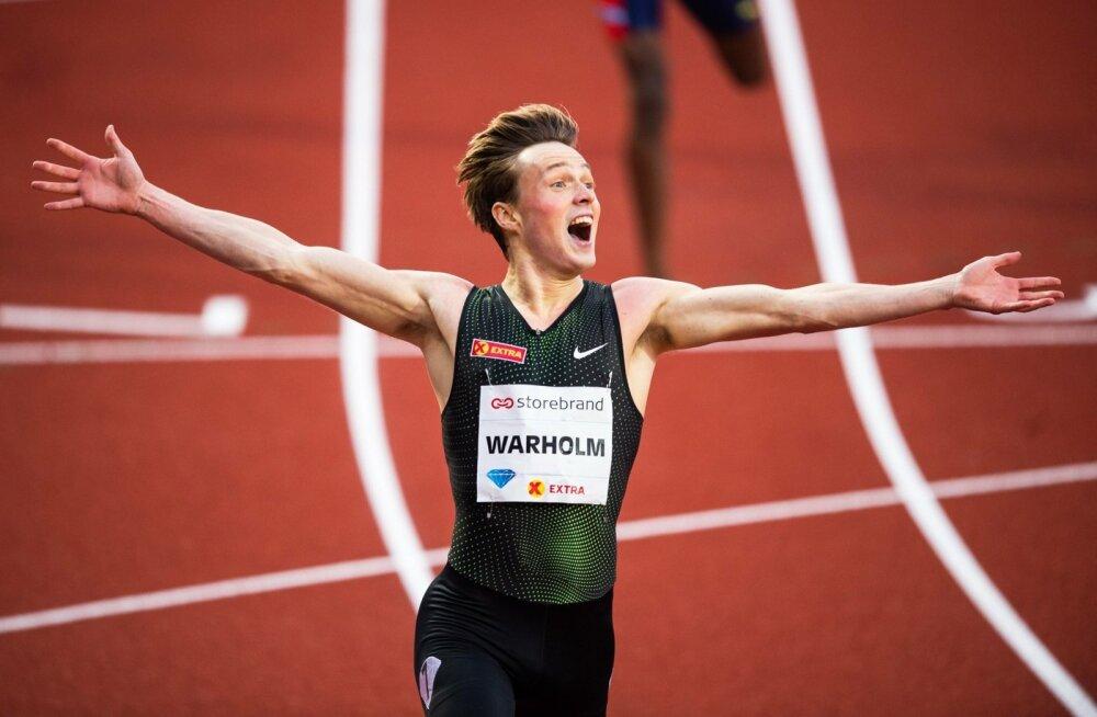 Karsten Warholm tegi Oslos suurepärase jooksu.