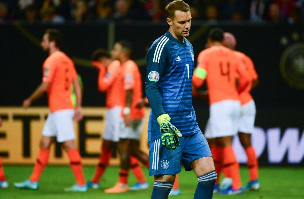 EM-valiksari: Eestiga ühte alagruppi kuuluvad Saksamaa ja Holland pidasid maha kuueväravalise trilleri, Bale päästis Walesi