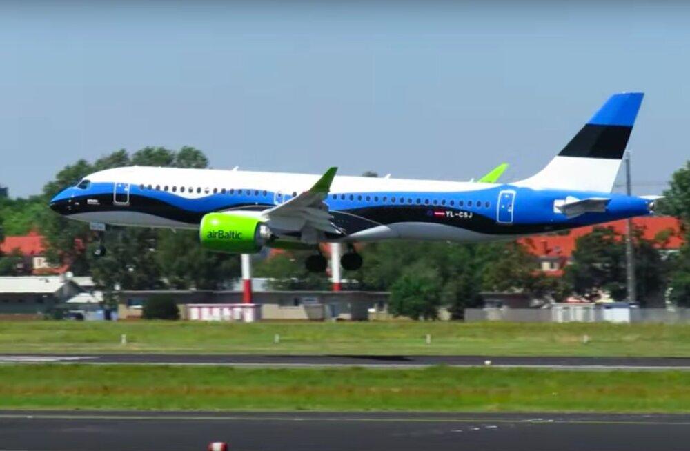 Vaata taevasse! airBaltic tähistas äri laienemist Eesti turul ägeda kingitusega