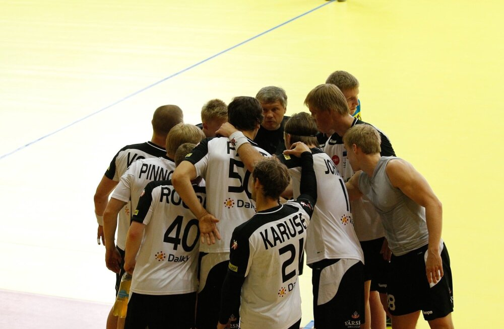Eesti meeste käsipallikoondise treening Viljandis