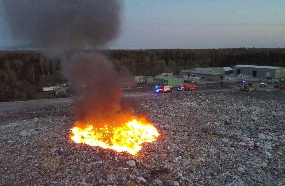 Väätsa prügila põleng