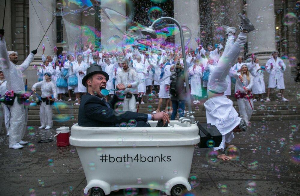 Transferwise'i kunagine pankadevastane aktsioon Londonis