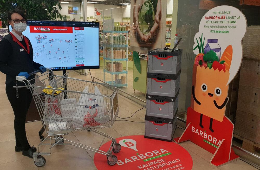 Barbora ja Maxima käivitavad ühise kontaktivaba ostlemise teenuse 17 linnas üle Eesti