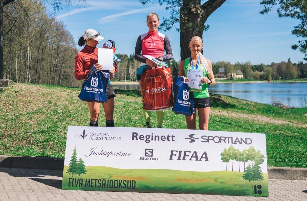 Tatjana Mannima võitis Elva Mägede jooksu Eveli Saue ees